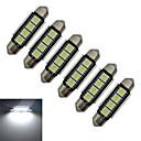 hesapli Diğer LED Işıkları-1.5W 80-90 lm Festoon Dekoratif Işıklar 4 led SMD 5050 Serin Beyaz DC 12V