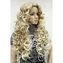 hesapli Makyaj ve Tırnak Bakımı-Sentetik Peruklar Bukle Sarışın Sentetik Saç 26 inç Ombre Saç / Yan Parti Sarışın Peruk Kadın's Uzun Bonesiz