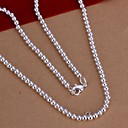 cheap Necklaces-Women's Chain Necklace - Sterling Silver Simple Style Necklace Jewelry 1pc For Wedding, Party, Daily