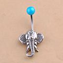 hesapli Küpeler-Kristal Göbek Halkası / Göbek Piercing - Kristal Fil, Hayvan Eşsiz Tasarım, Moda Kadın's Gümüş Vücut Mücevheri Uyumluluk Günlük