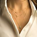 preiswerte Ohrringe-Damen Mehrschichtig Layered Ketten - Simple Style, Mehrlagig Farbbildschirm Modische Halsketten Schmuck Für