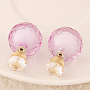Buy Women's European Style Fashion Candy-colored Shiny Beads Stud Earrings Rhinestone