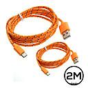 ieftine Cabluri & Adaptoare-Micro USB Cablu 2m-2.99m / 6.7ft-9.7ft Plastice Adaptor pentru cablu USB Pentru Samsung