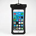 baratos Bolsas & Capinhas Universais-Capinha Para iPhone 6s Plus iPhone 6 Plus iPhone 6s iPhone 6 Universal Impermeável com Visor Bolsa Côr Sólida Macia PC para