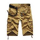 ieftine Pantaloni Bărbați-Bărbați Militar Mărime Plus Size Zilnic Sport Concediu Drept / Pantaloni Scurți Pantaloni - Mată Vară Verde Negru / Alb Kaki 34 36 38 / Muncă / Sfârșit de săptămână