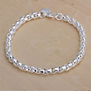 cheap Women's Watches-Chain Bracelet - Sterling Silver, Silver Plated Classic Bracelet For Christmas Gifts Wedding Party