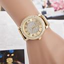 cheap Women's Watches-Women's Wrist Watch Quartz Imitation Diamond Alloy Band Analog Sparkle Gold - Golden