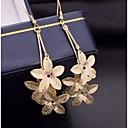 hesapli Küpeler-Kadın's Damla Küpeler - Altın Kaplama Gümüş / Altın Uyumluluk Düğün Parti Günlük