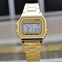 baratos Acessórios para Relógios-Homens Relógio de Pulso Quartzo Aço Inoxidável Banda Digital Casual Prata / Dourada - Prata Dourado
