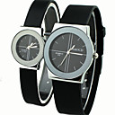 Buy Couple's Causal Style Round Dial Black Rubber Band Quartz Wrist Watch Cool Watches Unique Fashion Strap