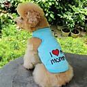 ieftine Imbracaminte & Accesorii Căței-Pisici Câine Tricou Îmbrăcăminte Câini Inimă Literă & Număr Gri Albastru Roz Bumbac Costume Pentru Vară Cosplay Nuntă