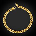 abordables Porte-clés-Femme Chaîne gourmette Chaînes & Bracelets / Bracelet - Acier inoxydable, Plaqué or Mode Bracelet Pour Mariage / Soirée / Occasion spéciale