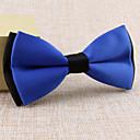 hesapli Erkek Kravatları ve Papyonları-Diğer Vintage Sevimli Parti İş Günlük Siyah Beyaz Sarı Kırmızı Mavi Yeşil Mor Pembe Other Düğün Tie Bar
