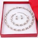 ieftine Curele-Pentru femei Seturi de bijuterii Cercei Stud Suvite de perle femei Elegant Perle Diamante Artificiale cercei Bijuterii Alb Pentru Nuntă Petrecere Aniversare Zi de Naștere Felicitări Mulțumesc