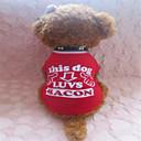 tanie Ubranka i akcesoria dla psów-Psy T-shirt Ubrania dla psów Czerwony / Biały Bawełna Kostium Na Lato