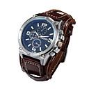 preiswerte Herrenuhren-Herrn Armbanduhr Armbanduhren für den Alltag Leder Band Luxus Schwarz / Weiß / Braun / Sony S626 / Zwei jahr