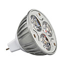 voordelige LED-spotlampen-3W 210-245lm GU5.3 (MR16) LED-spotlampen MR16 3 LED-kralen Krachtige LED Decoratief Warm wit / Koel wit / RGB 12V / 1 stuks / RoHs / CE