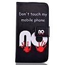baratos Protetores de Tela para Samsung-Capinha Para Samsung Galaxy Samsung Galaxy Capinhas Carteira / Porta-Cartão / Com Suporte Capa Proteção Completa Palavra / Frase PU Leather para S6 edge plus / S6 edge / S6