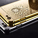 hesapli iPhone Kılıfları-Pouzdro Uyumluluk iPhone 5 Apple iPhone 5 Kılıf Kaplama Ayna Arka Kapak Tek Renk Sert Metal için iPhone SE/5s iPhone 5