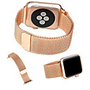 billige Apple Watch-remmer-milanisk løkkebånd for Apple Watch 44mm 40mm 42mm 38mm link armbåndsstropp magnetisk justerbart spenne med adapter for iwatch serie 4321