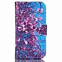 olcso Galaxy J tokok-Case Kompatibilitás Samsung Galaxy Samsung Galaxy tok Kártyatartó Pénztárca Állvánnyal Flip Héjtok Virág PU bőr mert S6 edge plus S6 S5
