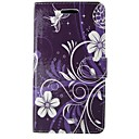 cheap iPad  Cases / Covers-Case For Apple iPhone 5 Case Wallet / Card Holder / with Stand Full Body Cases Lace Printing / Flower Hard PU Leather for iPhone SE / 5s