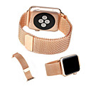 hesapli iPhone Kılıfları-Watch Band için Apple Watch Series 4/3/2/1 Apple Milan Döngüsü Paslanmaz Çelik Bilek Askısı
