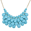 Buy Women's Statement Necklaces Resin Gold Plated Drop Fashion White Blue Jewelry Party Daily Casual 1pc