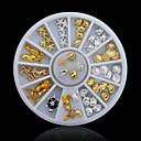 hesapli Makyaj ve Tırnak Bakımı-Sevimli tırnak sanatı Manikür pedikür Metal Klasik Günlük / Nail Jewelry