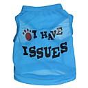 preiswerte Bekleidung & Accessoires für Hunde-Katze Hund T-shirt Hundekleidung Blumen / Pflanzen Rose Blau Rosa Terylen Kostüm Für Haustiere Herrn Damen Modisch