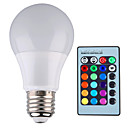 cheap iPhone Cases-YWXLIGHT® 500 lm E26/E27 LED Globe Bulbs A60(A19) 1 leds High Power LED Dimmable Decorative Remote-Controlled RGB AC 85-265V