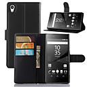 hesapli Kolyeler-Pouzdro Uyumluluk Sony Z5 Sony Xperia M4 Aqua Sony Xperia Z5 Kompakt Sony Xperia Z5 Sony Kılıf Kart Tutucu Cüzdan Satandlı Flip Tam