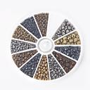 abordables Emballage & Présentation de Bijoux-Bijoux bricolage pcs Lots de Perles kits de perles Verre Doré Forme Ronde Perle cm DIY Colliers Tendance Bracelet