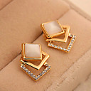 cheap Rings-Women's Stud Earrings - Rhinestone Fashion Golden / Screen Color For Daily