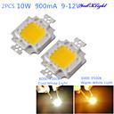 hesapli LEDler-youoklight® diy 10 w 820-900lm 900ma sıcak beyaz ışık / soğuk beyaz ışık entegre led modülü (dc 9-12v)
