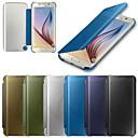 저렴한 갤럭시 S 시리즈 케이스 / 커버-케이스 제품 Samsung Galaxy 삼성 갤럭시 케이스 자동 슬립 / 웨이크 기능 / 거울 / 플립 전체 바디 케이스 솔리드 PC 용 S6 edge plus / S6 edge / S6