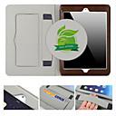رخيصةأون أغطية أيباد-غطاء من أجل Apple iPad Air 2 حامل البطاقات / مع حامل / نوم / استيقاظ أتوماتيكي غطاء كامل للجسم لون سادة جلد أصلي