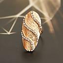 preiswerte Ohrringe-Damen Statement-Ring - Krystall, versilbert, vergoldet Luxus, Modisch 7 Silber / Golden Für Party Alltag Normal / Diamantimitate