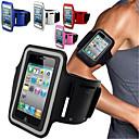 Недорогие Универсальные чехлы и сумочки-Кейс для Назначение iPhone 4/4S / универсальный с окошком / Нарукавная повязка С ремешком на руку Однотонный Мягкий текстильный для