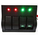 hesapli Sensörler-lossmann sıcak! 4 yollu rocker switch paneli araba / tekne anahtarı paneli kaliteli
