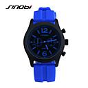hesapli Kolyeler-SINOBI Erkek Spor Saat Bilek Saati Quartz 30 m Su Resisdansı Spor Saat Silikon Bant Analog İhtişam Mavi - Kırmzı Mavi