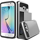 preiswerte Galaxy S Serie Hüllen / Cover-Hülle Für Samsung Galaxy Samsung Galaxy Hülle Kreditkartenfächer Rückseite Rüstung PC für S6 edge plus / S6 edge / S6