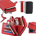 cheap Xbox One Accessories-Case For Samsung Galaxy Samsung Galaxy Case Card Holder / Wallet Full Body Cases Solid Colored PU Leather for S6 edge plus / S6 edge / S6