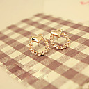 cheap Brooches-Women's Stud Earrings - Heart Flower Jewelry Golden For Wedding Party Daily Casual