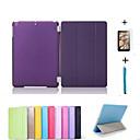 preiswerte iPad Hüllen / Cover-Hülle Für Apple mit Halterung / Automatischer Ruhe / Aktivmodus / Origami Ganzkörper-Gehäuse Solide PU-Leder für iPad Mini 3/2/1