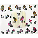 Buy 13D Water Transfer Gold/Pink Flower Nail Art Sticker DIY Decoration Tools Tips BLE849D