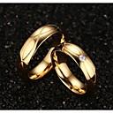 voordelige Kettingen-Dames Statement Ring - Titanium Staal, Verguld Modieus 5 / 6 / 7 Gouden Voor Bruiloft / Feest / Dagelijks