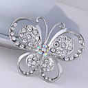 cheap Brooches-Women's Brooches - Crystal, Cubic Zirconia Butterfly, Animal Party, Work, Casual Brooch For Wedding / Party / Special Occasion