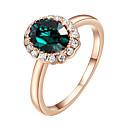preiswerte Ringe-Damen Kristall Synthetischer Smaragd Statement-Ring - Diamantimitate, Aleación Simple Style, Modisch Eine Größe Purpur / Grün Für Hochzeit Party