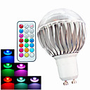 ieftine Audio & Video-Bulb LED Glob 400 lm GU10 A60(A19) 3 LED-uri de margele LED Putere Mare Intensitate Luminoasă Reglabilă Telecomandă Decorativ RGB 100-240 V / 1 bc / RoHs